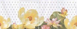 HGD\A56x59 Панно Летний сад светлый, панно из 4 частей 20х30 (размер каждой части)