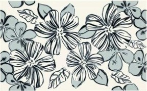 Плитка Vivian Bianco kwiat 25x40