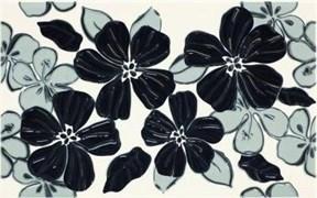 Плитка Vivian Nero kwiat 25x40