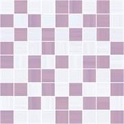 Stripes Мозаика лиловый+серый 30х30