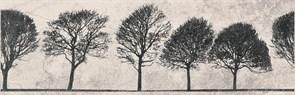 O-WIL-WID521-14 Вставка Willow Sky деревья светло-серый 29x89 O-WIL-WID521-14