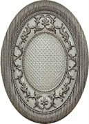 Medallon Yute Bronce-Beige 14*10