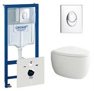 Комплект Bocchi Etna 1116-001-0129 подвесной унитаз + инсталляция Grohe Rapid SL 38750001 + кнопка