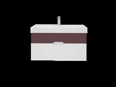 Тумба с раковиной Bocchi Malibu Purple dark Soft 100 см