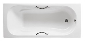 Чугунная ванна Roca Malibu R 150х75 см с ручками