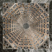 SG013402R/D Декор Арката серый тёмный лаппатированный 119,5x119,5x11