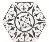 Marrakech Agadir Negro Hexagon Декор